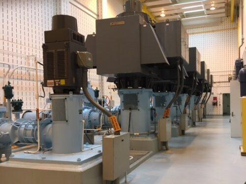 Example of mechanical contractor jobsite