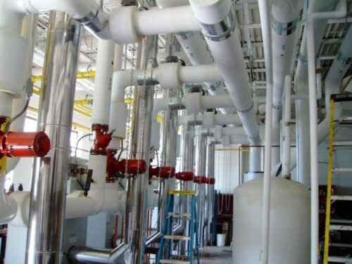 Insulated process piping