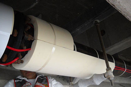Pipe Insulation project at hampton roads bridge tunnel