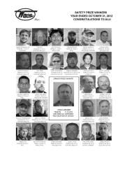 2012 Safety Prize Winners: