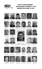 2013 Safety Prize Winners: