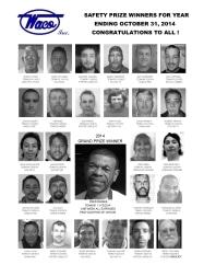 2014 Safety Prize Winners: