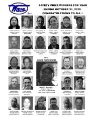 2015 Safety Prize Winners: